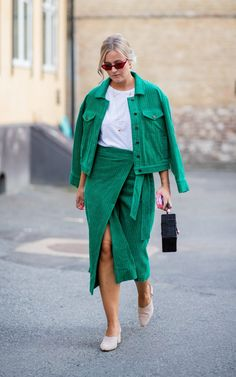 Oslo Fashion Week: the Scandi street style looks to be inspired by now oslo street style green co ord # Fall fashion event outfit # ilymixAccessories Green Fashion, Look Fashion, New Fashion, Autumn Fashion, Womens Fashion, Fashion Mode, Fashion Spring, Fashion Photo, Fashion Trends