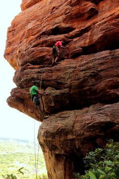 Climbers in Badami, India. Climbing the Master of Biscuits. Photographed by Siddharth Devaraj at Sid-Art Photography. Facebook Page : Sid-Art.co Instagram : Sid-Art.co www.sid-art.co