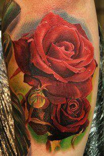 Rose tattoo done by Phil Garcia #tattoo #tattoos #Ink