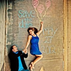 15+ ADORABLE ways to use chalk in your engagement session.