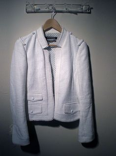 Available @ TrendTrunk.com White CLUB Monaco blazer. By Club Monaco. Only $28.00!