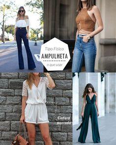 Dicas de moda e looks para o tipo de corpo AMPULHETA, quais looks usar, quais evitar, veja o vídeo!