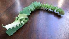 El hada de papel: Cocodrilo 01 / Crocodile 01 / Krokodil 01