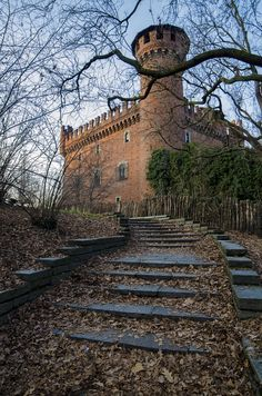 The Medieval Castle in Valentino Park - Turin, Piemonte, Italy