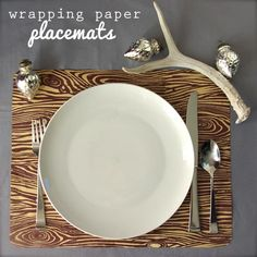 Oleander and Palm: Wrapping Paper Placemats