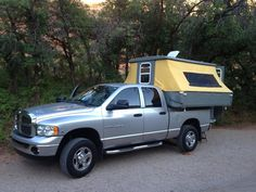 Enjoy affordable family travel and make your next camping trip easier with our f… - camping checklist Pickup Camper, Pop Up Truck Campers, Diy Camper Trailer, Slide In Camper, Trailer Tent, Tiny Camper, Car Camper, Camping Trailers, Gypsy Trailer