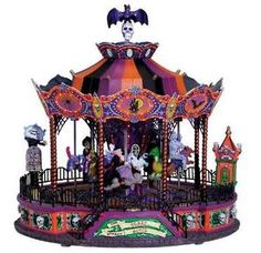 Lemax Spooky Town Spooky Scare-Ousel, with 4.5-Volt Adaptor. Carnival section