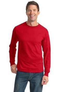 JERZEES - HiDensi-T 100% Cotton Long Sleeve T-Shirt.  363LS #longsleevetshirt #clothing