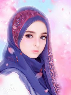 The actual scarf is the central bit in the outfits of ladies having hijab. As it is central to the adornment Beautiful Fantasy Art, Beautiful Anime Girl, Kawaii Anime Girl, Anime Art Girl, Tmblr Girl, Hijab Drawing, Islamic Cartoon, Lovely Girl Image, Hijab Cartoon