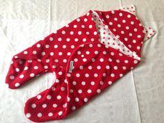 Baby Einschlagdecke Puckdecke Dots & Sterne von EMS ART Factory auf DaWanda.com