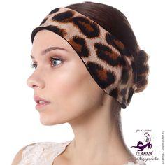 "Купить Полоска, повязка на голову утепленная двусторонняя на флисе ""Ягуар"" - повязка, полоска, полоска на голову"