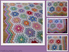 Quilt+Grandmother's+Flower+Garden+Borders   Love the triple zig-zag border.