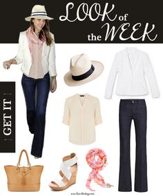 This week's look of the week - Jessica Alba's chic airport ensemble! www.lainthebay.com