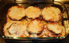 Eggplant Parmesan (Weight Watchers)- my friend made this and it was SOOO good!
