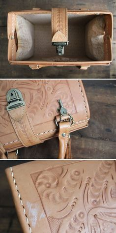 tooled leather doctor bag