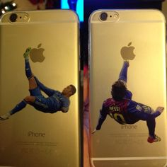 iPhone soccer CR7 or Messi silicone case New iPhone case 5/5S or 6 Transparent silicone case with Cristiano Ronaldo or Lionel Messi design, ships in 1-2 days Jordan Accessories Phone Cases