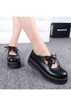 JK Fashion Black Shoes With Heart Detail