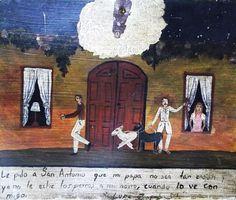 Прошу Святого Антония, чтобы мой папенька не был таким сердитым и не спускал собак на моего жениха, когда видит его со мной.