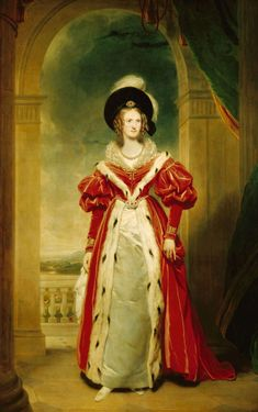 Adelaide of Saxe-Meiningen, Queen Consort of William IV of Great Britain, 1836.  By Sir Martin Archer Shee