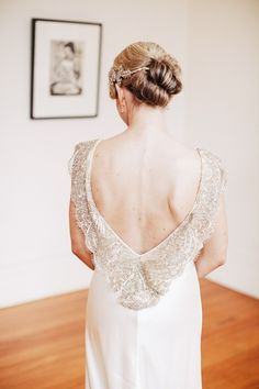 (vía beaded gown detailing // photo by Louisa Bailey // gown … | Weddi…)