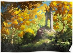 Kai Fine Art is an art website, shows painting and illustration works all over the world. Illustrations, Illustration Art, Fantasy World, Fantasy Art, Environment Concept Art, Video Game Art, Video Games, Environmental Art, Fantasy Landscape