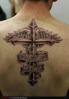 men's back christian tattoos | Tatto design of Cross Tattoos - TattooDesignsIdeas.in