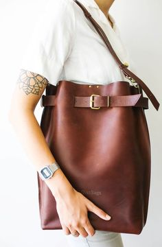 Leather Laptop Backpack, Large Leather Backpack, Brown Leather Rucksack, Travel Backpack, Unisex Backpack – Purses And Handbags Crossbody Leather Laptop Backpack, Laptop Rucksack, Travel Backpack, Laptop Tote, Travel Bags, Tote Backpack, Leather Backpacks, Fashion Handbags, Purses And Handbags