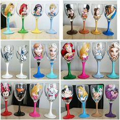 Check Out These Stunning Hand Painted Wine Glasses and Beer Mugs