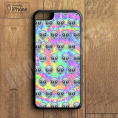Cute Alien Emoji Tye Dye Cool Phone Case For iPhone 6 Plus For iPhone 6 For iPhone 5/5S For iPhone 4/4S For iPhone 5C-5 Colors Available