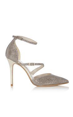 Glitter fabric court shoe | Luxury Women's shoes | Karen Millen