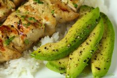 coconut lime chicken kabobs