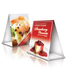 46 best table tents printing images on pinterest table tents die