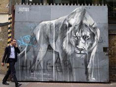 FAITH47 * 1979 * South African * http://www.faith47.com * London ~ Lion ~ power ~ black n white