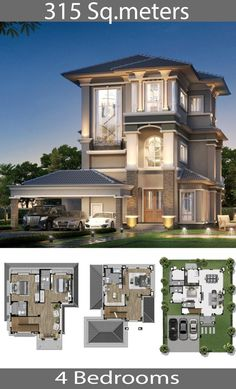 315 square meters Home 4 bedrooms - Home Ideassearch