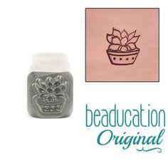 Four Succulants Green Prince Succulent Design Stamp - Beaducation Original