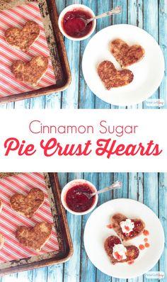 Easy Pie Crust Cinnamon Sugar Hearts