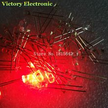 US $1.18 100PCS/Lot 3mm Round Red LED Diode Super Bright Water Clear LED Light Lamp Red color New. Aliexpress product