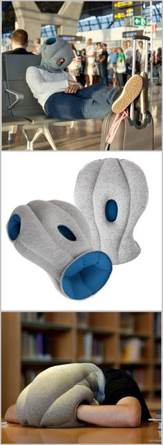 Ostrich Pillow ~  Just put it on & you got a snuggly, cocoon-like microenvironment that lures you off to Slumberland anywhere. SO cool!