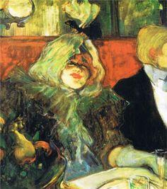 At the Rat Mort, 1899 / Toulouse-Lautrec