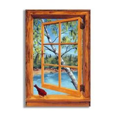 Shop for Cabin Cardinal Faux Window Scene. Get free shipping at Overstock.com - Your Online Home Decor Outlet Store! Get 5% in rewards with Club O!