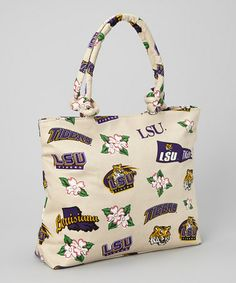 Loving this LSU Tigers Natural Tote on #zulily! #zulilyfinds