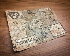 Zelda Map Termina Map Hyrule Map Legend of Zelda Majoras by hutui Zelda Birthday, Birthday Fun, The Legend Of Zelda, Zelda Map, Clock Town, Fantasy World Map, Wooden Map, Final Fantasy Vii, Look Cool