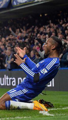Didier Yves Drogba Tébily (Chelsea London FC / Côte d'Ivoire) after scorin' the goal :)