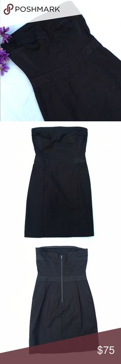"""See by Chloe strapless little black dress 8 Excellent pre-loved condition! Worn only once. 98% cotton, 2% elastane. Perfect for any semi-formal occasion! Same dress as last pic just different color. Approx 32"""" bust, 30"""" length. See by Chloe Dresses Strapless"""