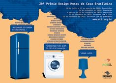 Between April and May the Museu da Casa Brasileira Poster Contest challenges participants from across the country to create the centerpiece of Product Design Award. Subsequently printed and distributed for promotion of the inscriptions, the winning poster also guides the visual identity adopted in the year.    #museudacasabrasileira #concurso #poster #contest #concursomuseudacasabrasileira #graphicdesign #design  #designgrafico #thiagovidalego #2015 #mcb