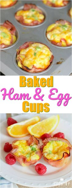 Baked Ham and Egg Cups recipe from The Country Cook