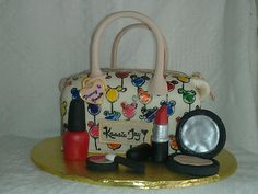 """This couldn't be more """"me"""". Disney Dooney + Makeup + Cake."""