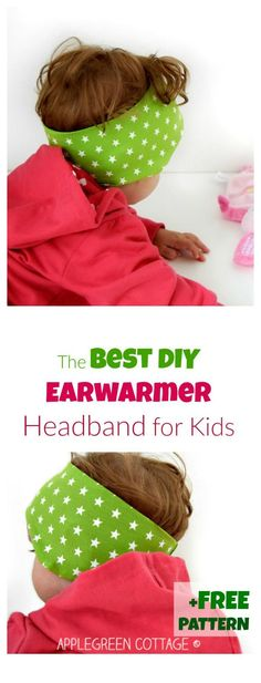 FREE Earwarmer headband PDF pattern for kids in 3 sizes. Click through to get it now, it's perfect for fall!