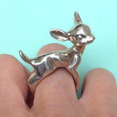 Silver Deer Ring at shanalogic.com