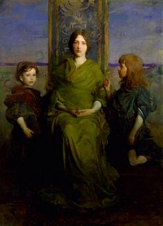 Abbott Handerson Thayer : Virgin Enthroned 1891